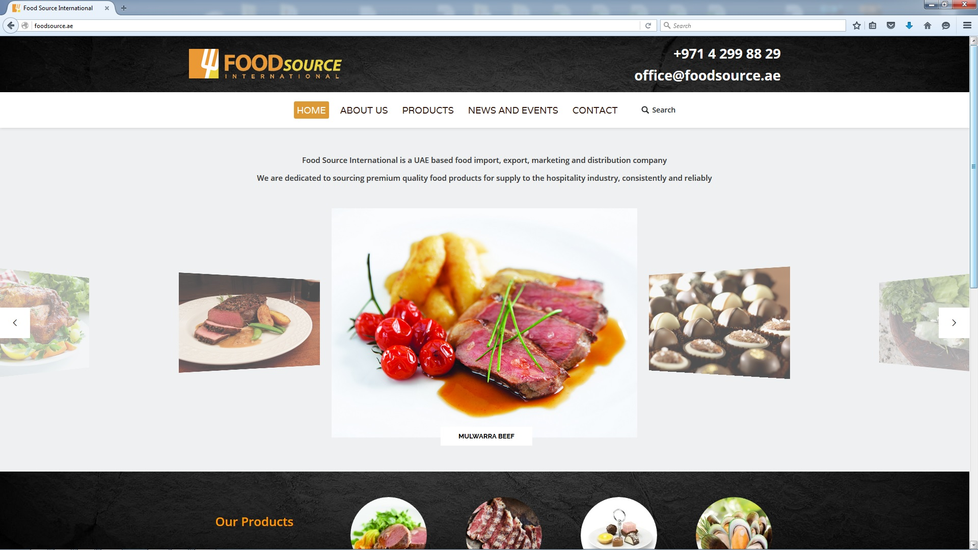 Check out the new website of food source international for Cuisine site